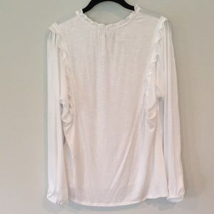 Anthropologie Tops - Anthropologie Long Sleeve White Top - Size M